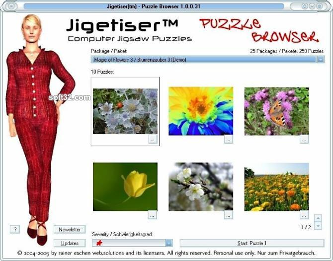 Jigetiser(tm) - Flowers 3 Package Screenshot
