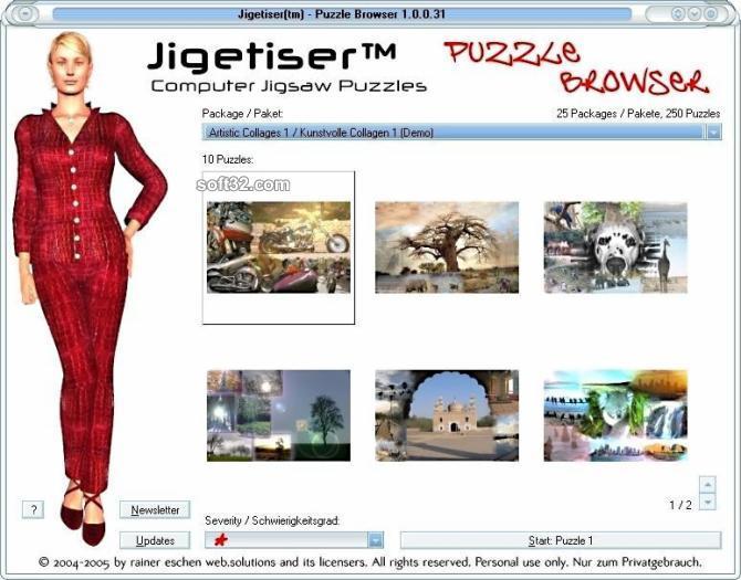 Jigetiser(tm) - Collages 1 Package Screenshot 1
