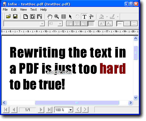 Infix PDF Editor Screenshot