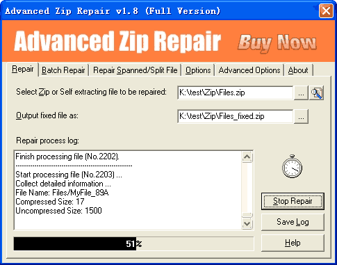 Advanced Zip Repair Screenshot