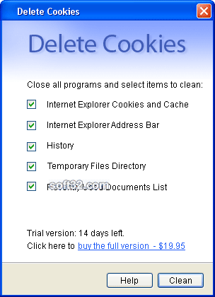 Delete Cookies Screenshot 3