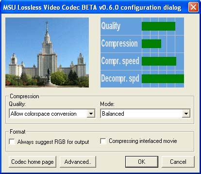 MSU Lossless Video Codec Screenshot 1