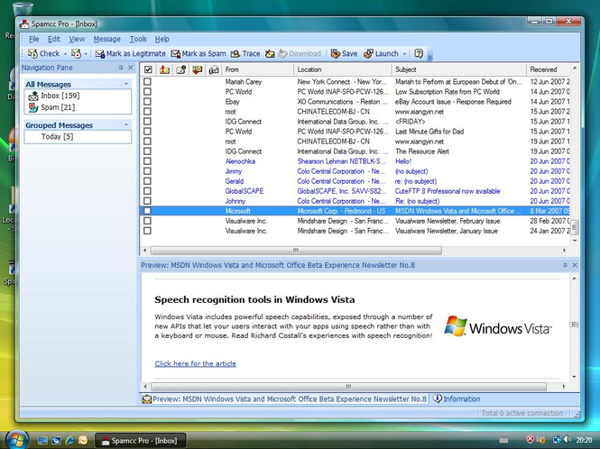 Spamcc Pro Screenshot
