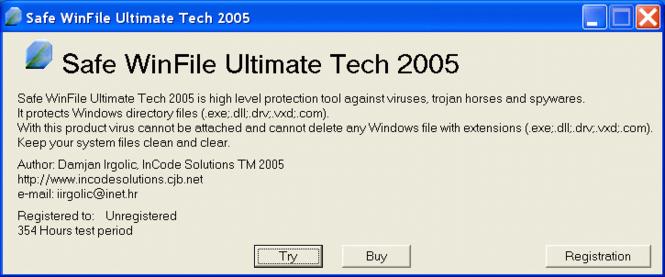Safe WinFile Ultimate Tech 2005 Screenshot 1