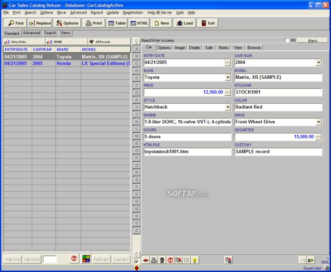Car Sales Catalog Deluxe Screenshot 11