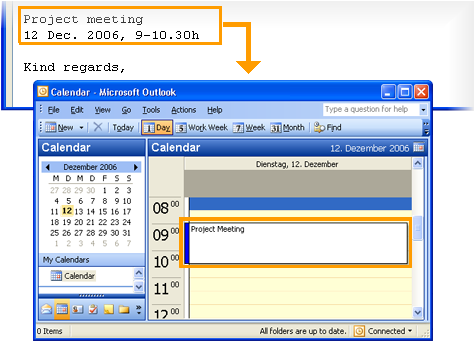 copy2calendar Screenshot