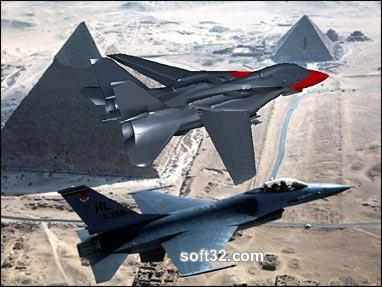 Jets Over the Pyramids 3D Screensaver Screenshot 3