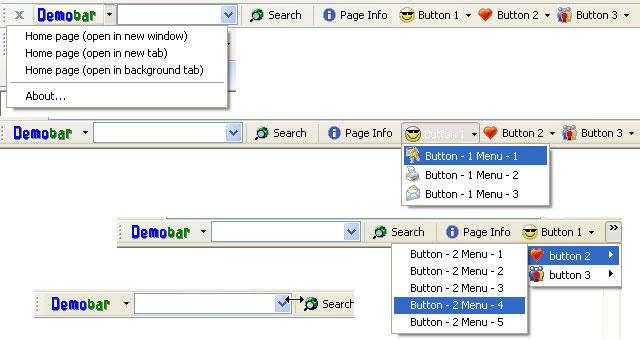 Demo toolbar for Internet Explorer (IEDemoToolbar) Screenshot