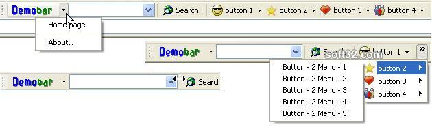 Demo toolbar for Internet Explorer (IEDemoToolbar) Screenshot 2