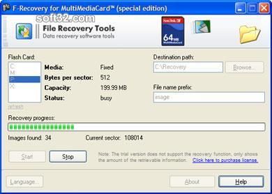 F-Recovery for MultiMediaCard Screenshot 3