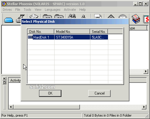 Stellar Phoenix Solaris-Sparc - Data Recovery Software Screenshot