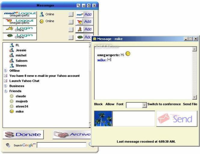 Omega Messenger Screenshot 3