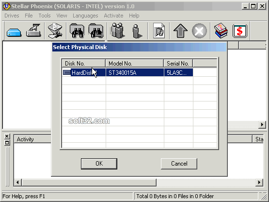 Stellar Phoenix Solaris-Intel - Data Recovery Software Screenshot 1