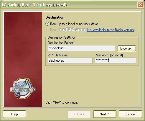 EZ IE Backup Screenshot