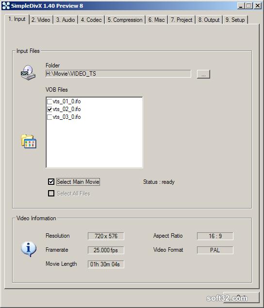SimpleDivX Screenshot 1