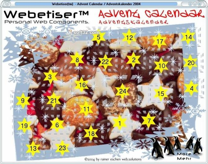 Webetiser(tm) Advent Calendar 2004 Screenshot