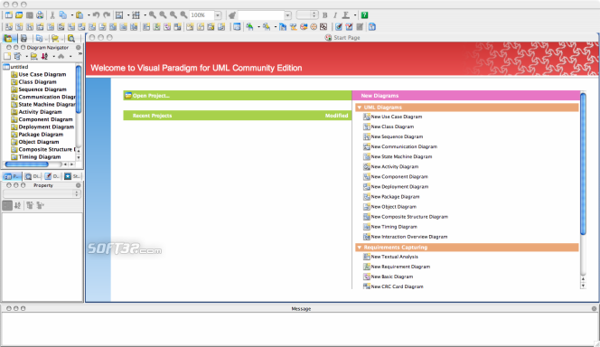 Visual Paradigm for UML (CE) [Mac OS X] Screenshot 3