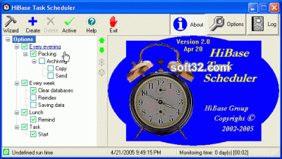 HiBase Task Scheduler Screenshot 2