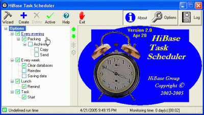 HiBase Task Scheduler Screenshot