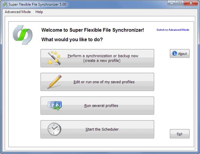 Super Flexible File Synchronizer Screenshot 1