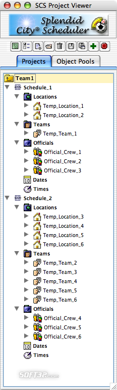 Splendid City Lite, Sports Scheduler (Mac OS X) Screenshot 2