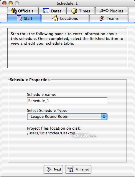 Splendid City Lite, Sports Scheduler (Mac OS X) Screenshot 3