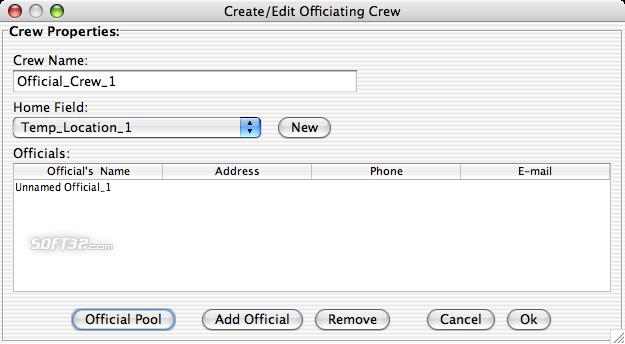 Splendid City Lite, Sports Scheduler (Mac OS X) Screenshot 4