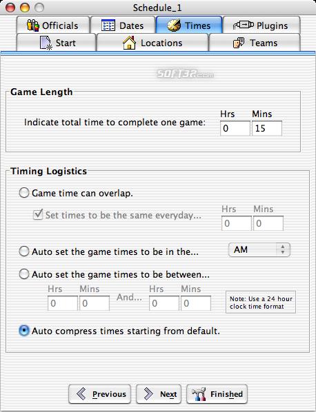 Splendid City Lite, Sports Scheduler (Mac OS X) Screenshot 5