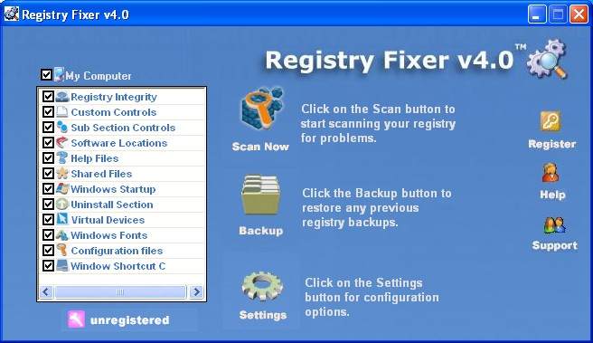 Registry Fixer Screenshot 1