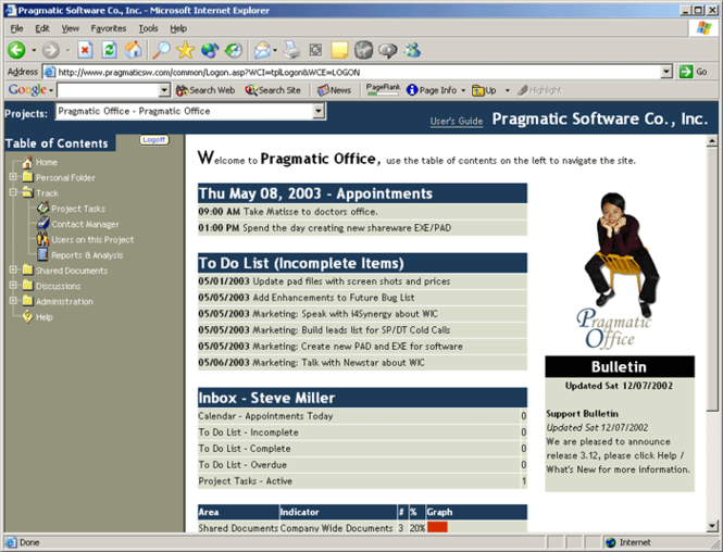 Pragmatic Office Screenshot 1