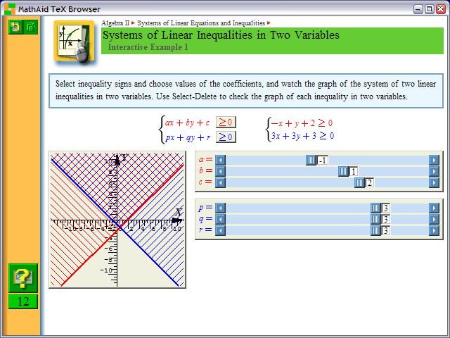 MathAid Algebra II Screenshot 1