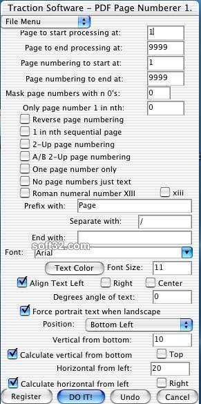 Mac PDF Page Numberer Screenshot 2
