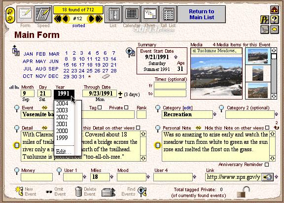 LivingTime Personal Timeliner Screenshot 2