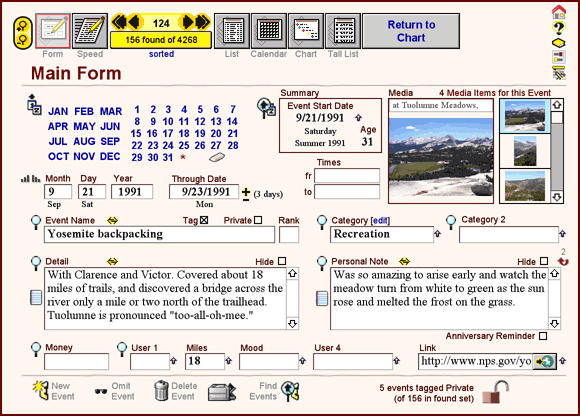 LivingTime Personal Timeliner Screenshot
