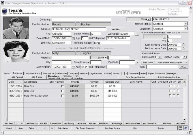 Landlord Report-Property Management Software Screenshot 3