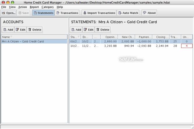 Home Credit Card Manager (Mac) Screenshot 4