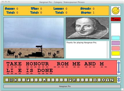 Hangman Pro for Macintosh Screenshot