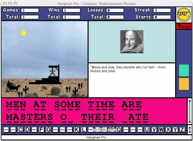 Hangman Pro for Macintosh Screenshot 3