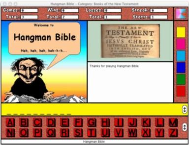 Hangman Bible for the Macintosh Screenshot 1