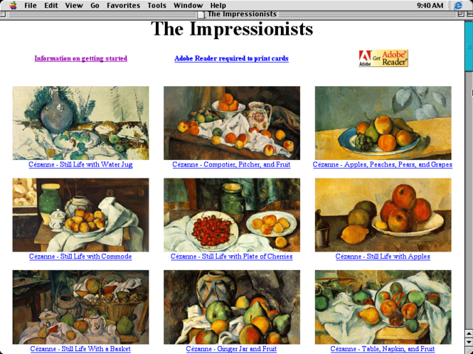 Great Works of Art/The Impressionists Screenshot 1