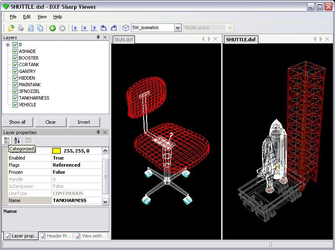DWG DXF Sharp Viewer Screenshot