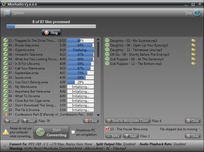 MuvAudio Screenshot