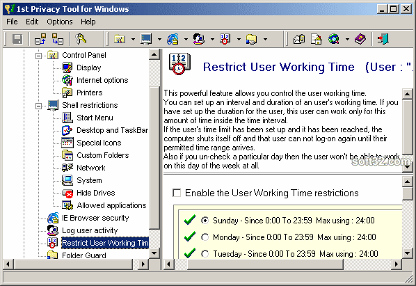 1st Privacy Tool for Windows Screenshot 3