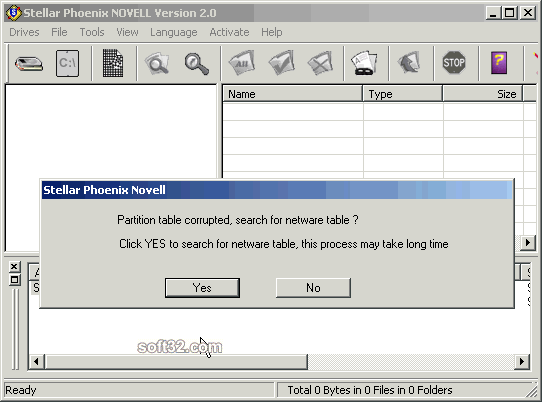 Stellar Phoenix Novel NWFS - Data Recovery Software Screenshot 1