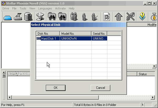Stellar Phoenix Novel NSS - Data Recovery Software Screenshot