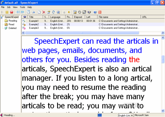 SpeechExpert Screenshot