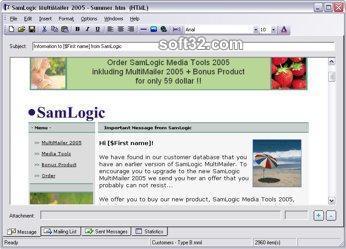 SamLogic MultiMailer Screenshot 2