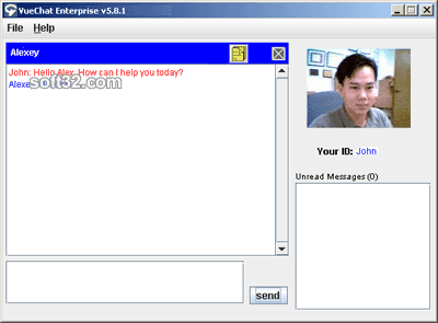 VueChat Customer Service Screenshot 1