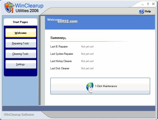 WinClearup Utilities 2006 Screenshot