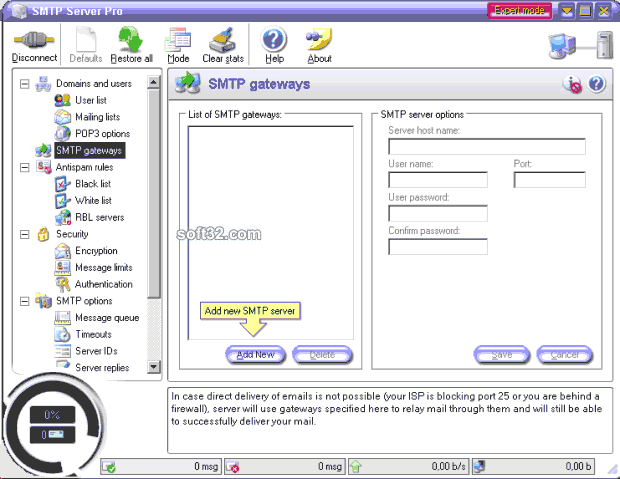 SMTP Server Pro Screenshot 2